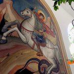Святой Георгий.Фреска.Монастырь.Кипр.