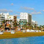 Ларнака.Пляж на набережной Финикудес.Кипр.Экскурсии по Кипру.