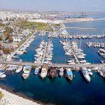 Морской частный порт в Ларнаке.Марина-Ларнака.Кипр.Рыбалки на Кипре.